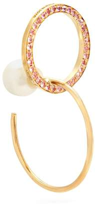 Delfina Delettrez Sapphire, pearl & yellow-gold single earring