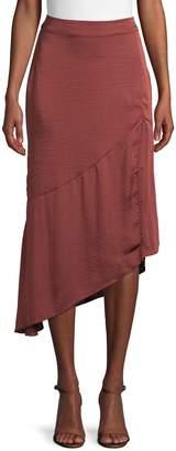 Free People Lola Asymmetrical Slit Skirt
