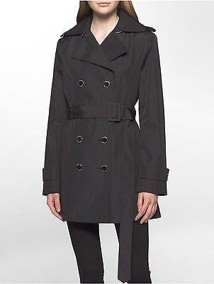 Calvin KleinCalvin Klein Womens Bonded Poly Trench Coat Jacket