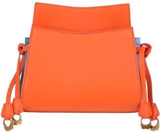 Patricia Al'kary Leather Shoulder Bag W/ Side Drawstrings