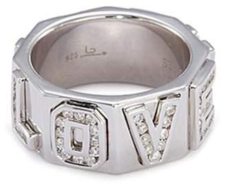 Lynn Ban 'I Love You' diamond silver ring
