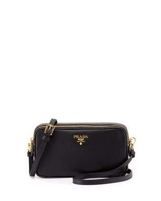 Prada Saffiano Mini Crossbody Bag, Black (Nero) $820 thestylecure.com