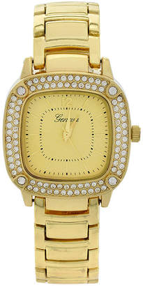 GENEVA Geneva Womens Square-Face Gold-Tone Bracelet Watch