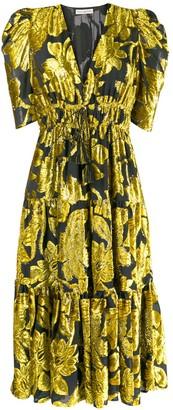 Ulla Johnson two tone midi dress