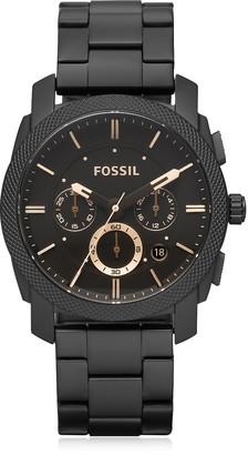 Fossil Machine Chronograph Black Stainless Steel Men's Watch