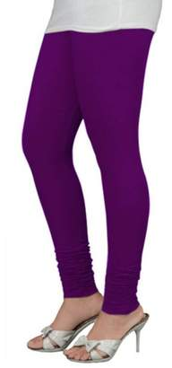 Ladyline Lady Line Plain Colours 4-Way Stretch Cotton Lycra Leggings Long Soft Yoga Pants Tights Churidar