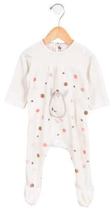 Catimini Girls' Printed Polka Dot All-in-One