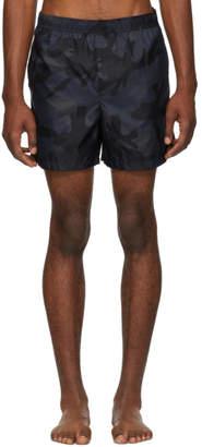 Valentino Navy Camo Swim Shorts