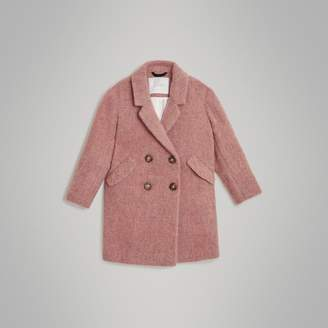 Burberry Childrens Wool Alpaca Blend Tailored Coat