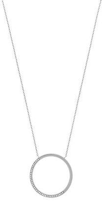 Michael Kors Open Circle Pavé Crystal Pendant Necklace $95 thestylecure.com
