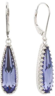 Sterling Silver Swarovski Crystal Tear Drop Earrings