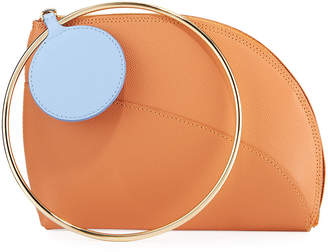 Roksanda Dia Small Leather Clutch Bag