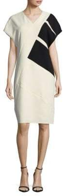 Narciso Rodriguez Diagonal Colorblocked Dress