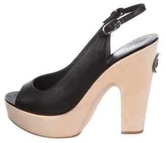 Chanel Slingback Platform Sandals