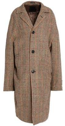R 13 Prince Of Wales Checked Wool Coat