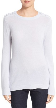 Women's Autumn Cashmere Slash Sleeve Cashmere Sweater $295 thestylecure.com