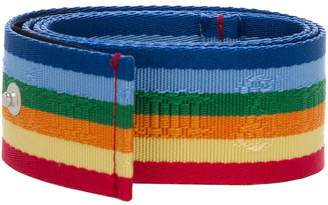 Palm Angels Rainbow Belt Multicolor Light Grey