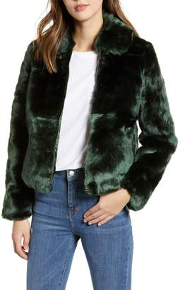 Obey Kale Faux Fur Bomber Jacket