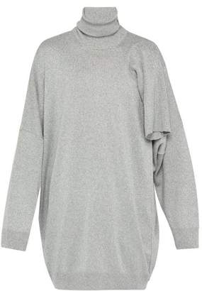 Raf Simons Multiple Sleeve Metallic Roll Neck Sweater - Mens - Light Grey