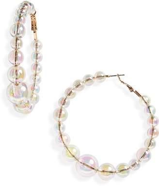 Leith Iridescent Bead Hoop Earrings