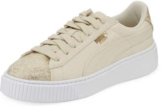Puma Basket Platform Canvas Sneakers