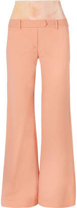 Ellery Stretch Jersey-paneled Crepe Flared Pants - Peach