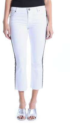 KUT from the Kloth High Waist Side Stripe Kick Flare Jeans