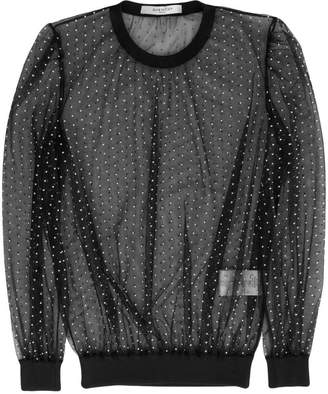 Givenchy dotted sheer blouse