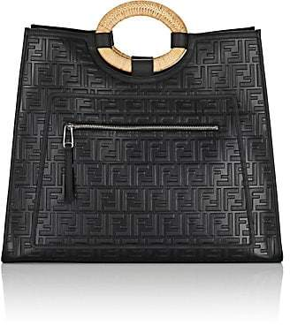 5586c7fc9234 Fendi Women s Runaway Leather Tote Bag - Black