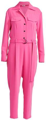 Kenzo Belted Crepe Jumpsuit