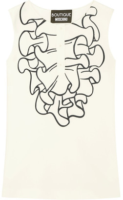Boutique Moschino - Printed Crepe Top - White $325 thestylecure.com
