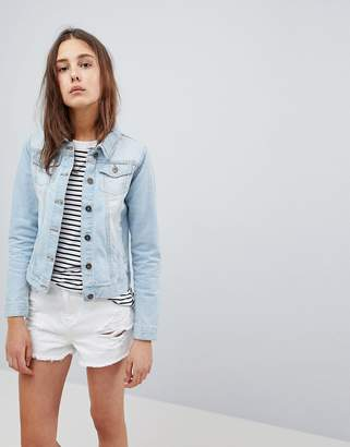 Brave Soul Bloom Denim Jacket