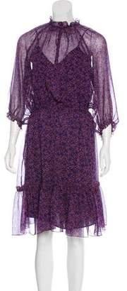 Gerard Darel Silk Printed Dress w/ Tags