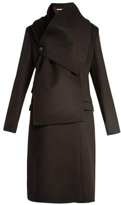Summa - Double Breasted Wool And Cashmere Blend Coat - Womens - Black