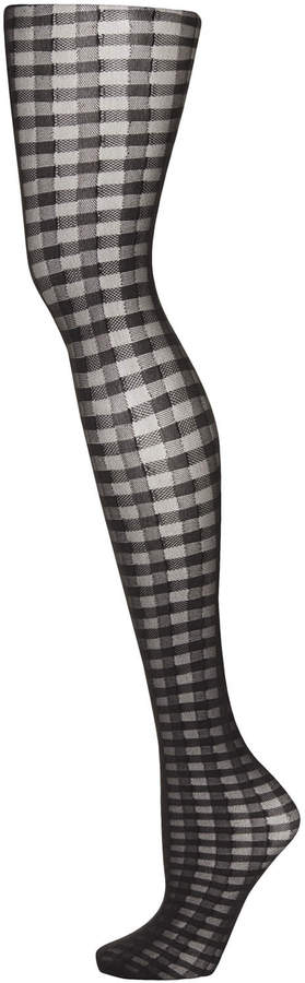 Topshop Black all over gingham tights