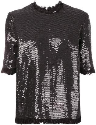 MSGM round neck sequined T-shirt