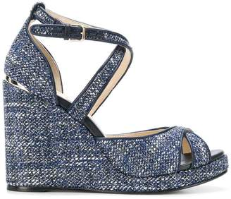 Jimmy Choo Alanah 105 tweed sandals