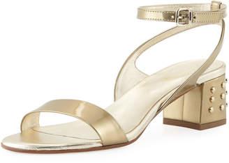 Tod's Gommini Mid-Heel Metallic Sandal