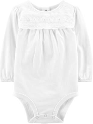Osh Kosh Oshkosh Bgosh Baby Girl Eyelet Shirred Bodysuit
