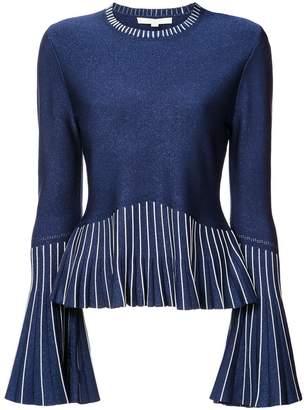 Jonathan Simkhai contrast long-sleeve sweater
