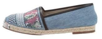 Giuseppe Zanotti Embellished Espadrille Flats