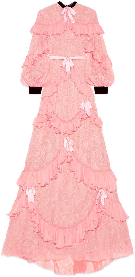Chantilly lace gown