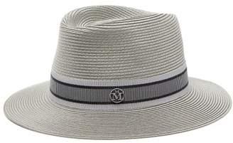 Maison Michel Andre Straw Hat - Womens - Grey