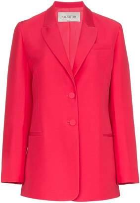 Valentino Two button wool-silk blend blazer