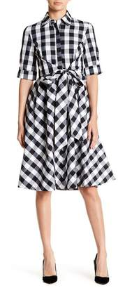 Gracia Gingham Belted Collar Dress