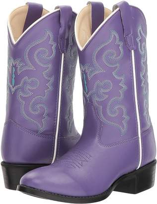 Old West Kids Boots Pearlized Purple Cowboy Boots