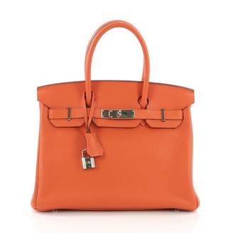 Hermes Birkin 30 Orange Leather Handbag