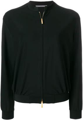 Alberta Ferretti front zip bomber jacket