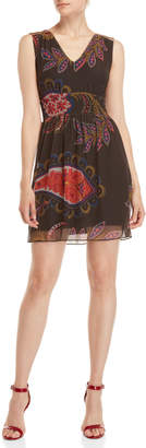 Desigual V-Neck Fit & Flare Dress