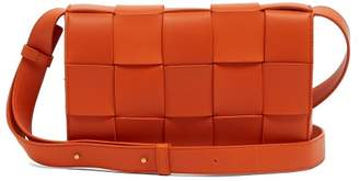 Bottega Veneta Intrecciato Leather Cross Body Bag - Womens - Orange